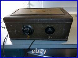 1920s Atwater Kent model 40 Metal Bread Box Tube Radio ANTIQUE-Vtg clean 17x10