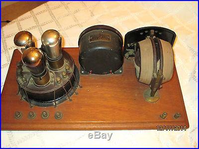 1923 ATWATER KENT BREADBOARD TUBE RADIO SET MODEL 3925- ALL ORG-VINTAGE