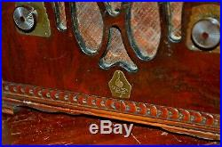 1933 Emerson Vintage Tube mini cathedral Radio Art Deco model 250-AW