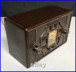 1936 Remler SKIPPER vintage ART DECO Bakelite Vacuum Tube Radio #51
