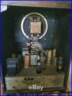 1936 Zenith 6s27 Antique Vintage Radio Tombstone