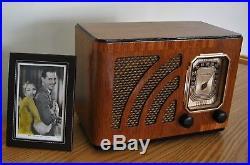 1937 Restored Vintage Philco AM Broadcast Table Radio OUTSTANDING