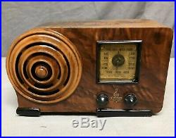 1938 Beautiful, working Emerson Bullseye Ingraham vintage vacuum tube radio