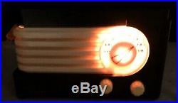 1939 Philco Transitone vintage BLACK bakelite vacuum tube radio