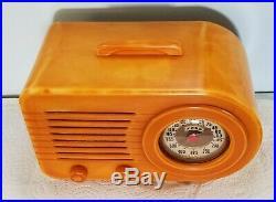 1946 Vintage Fada Bullet 1000 Catalin Radio No cracks Restored -Works great