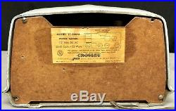 1951 Crosley Bullseye WHITE JETSON era vintage vacuum tube Radio #11-100