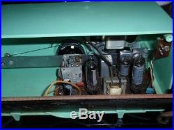 1957 Motorola 56H Turbine Vintage Tube Radio Seafoam Green Urea Plastic Mint