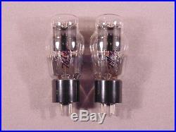 2 2A3 SYLVANIA Black Plate HiFi Radio Amp Vintage Vacuum Tubes Matching Codes 1V