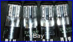 4 TUBE'S Sylvania BadBoy 6SN7GT VT-231 Vintage 1950's WORKING EXCELLENT 6SN7