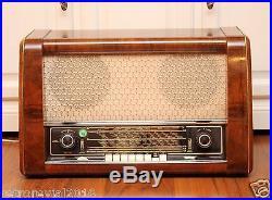 AMAZING! GRAETZ Spitzen Super 163W Vintage Tube Radio EL12 MW KW UKW Valve Amp