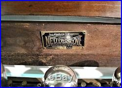 Amrad Neutrodyne Model 522 Coffin Radio Vintage1920's & 5 Working Valves (0173f)