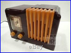ARVIN 532 Vintage Butterscotch & Tortoise Radio From 1940s Left Side Dial