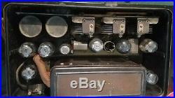 ATWATER KENT MODEL 46 1929 Green/Black Painted Metal Tube Radio Vintage Antique