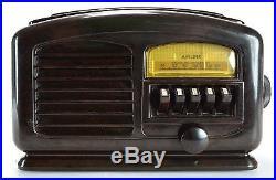 Airline Air Wave 04BR-513A Antique Brown Bakelite Tube Vintage Radio Receiver