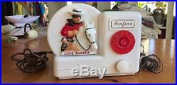 Airline Lone Ranger Vintage Radio 1951 Excellent Works Montgomery Ward CO