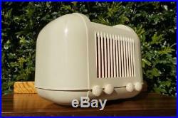 Amazing Retro Vintage Kriesler 11-20 Ivory Bakelite Valve Tube Radio Late 40's