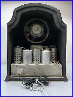 Antique Clarion tombstone vintage tube radio Partially restored 19 X16 X10.5