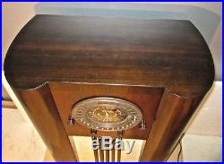 Antique Grunow vintage console tube radio restored & working