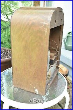 Antique RCA Tube Radio T6-1 Superheterodyne Wooden Tombstone Case 1936 Vintage
