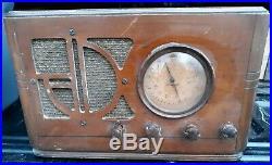 Antique Silvertone Radio Model 4463 1930's Vintage Tube Police Radio Repair