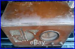 Antique Silvertone Radio Model 4463 1930′s Vintage Tube