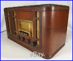 Antique Silvertone radio wood tube R1261 vintage 1940 Broadcast Shortwave Sears