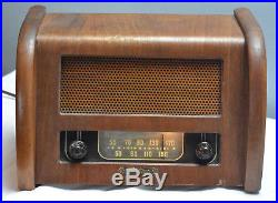 Antique Teletone Radio Model 100 Wood Working! Vintage Table