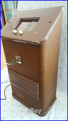 Antique Vintage 1940s Coin Operated Cointrola Radio Dime 10 cent