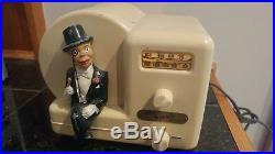 Antique Vintage Charlie McCarthy Bakelite Tube Radio by Majestic WORKS