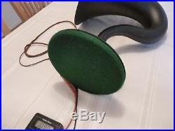 Antique Vintage Nathaniel Baldwin Radio Horn Speaker With Label Works Great