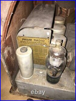 Antique Vintage Philco Baby Grand Cathedral Model 90 Tube Radio As Found