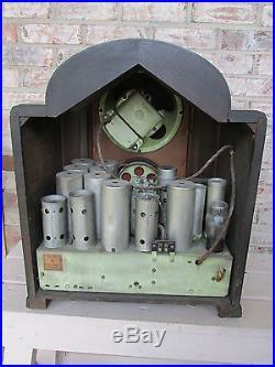 Vintage radio tombstone defiance