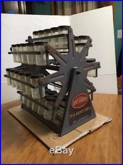 Antique Vintage Raytheon Tv And Radio Vacuum Tube Caddy Store Display Case