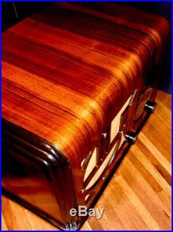 Antique Wood 1937 CORONADO Vintage Radio Art Deco Period With BOSE BLUETOOTH