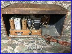 Antique Wood Zenith Vintage Tube Radio 5 S 119