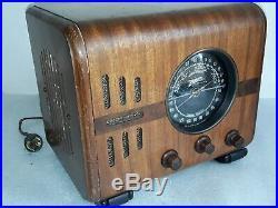 Antique Zenith tube radio model 5S-218 Original condition Vintage 1930s