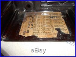 Art Deco machine age vintage tube radio Wagner RARE working Airplane Dial works