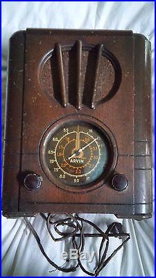 Arvin 417 Rhythm Baby Radio (1936) all ORIGINAL Antique vintage STEAMPUNK