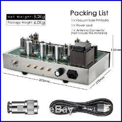 Assembled Vintage Vacuum Tube FM Radio Tuner Stereo Audio Receiver Pre-amplifier