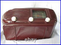 Bakelit Röhren Radio Tesla Talisman 308 U Vintage Tube Radio Art Deco Top