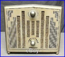Beautiful, WORKING 1937 Stewart Warner'COMPANION' vintage ART DECO tube radio