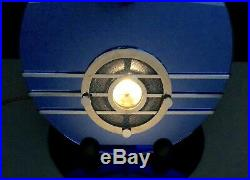 Beautiful, working 1936 SPARTON BLUEBIRD ART DECO vintage vacuum tube RADIO