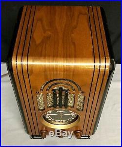 Beautiful, working 1937 Zenith 5S228 tombstone vintage vacuum tube radio- L@@K