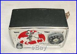 Beautiful, working CHROME Hopalong Cassidy Arvin 441T cowboy vintage tube RADIO