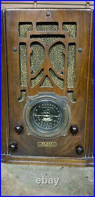 Boat Farm PLATT Tube Radio Antique Vintage Console Table Top Tombstone