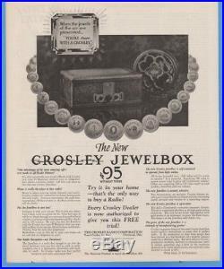 CROSLEY MUSICONE TYPE D VINTAGE 1920's CONE SPEAKER