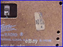 Classic Vintage Zenith Model G725 AM/FM Tube Radio-RESTORED