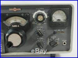 Collins KWM2-A Vintage Tube Ham Radio Transceiver (untested, for restoration)