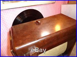 Estate Vintage Rare Philips Matador V6a Burl Bakelite Tube Radio