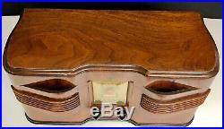 Emerson EC-376 Twin Speaker with Ingraham Cabinet (1940) vintage vacuum tube radio